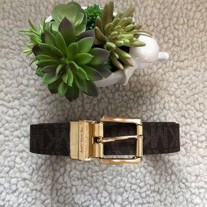 Michael Kors Reversible Belt Gold Buckle Metallic